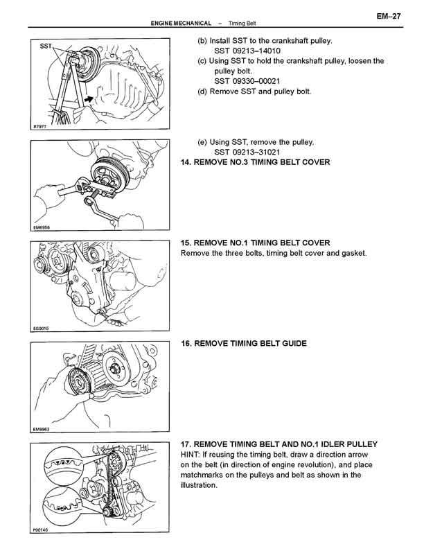 toyota 5efe engine specs and repair manual